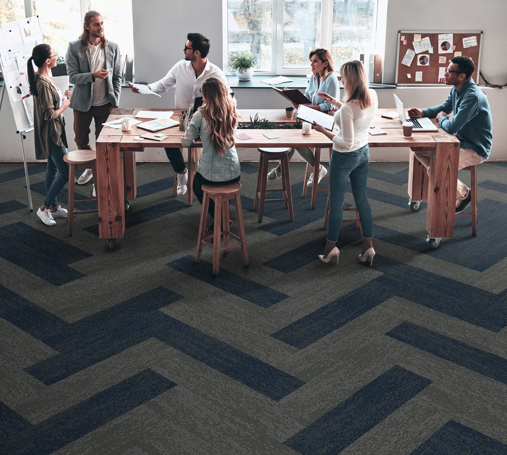 EBB is a dynamic organic pattern that will accentuate any interior floor space. -