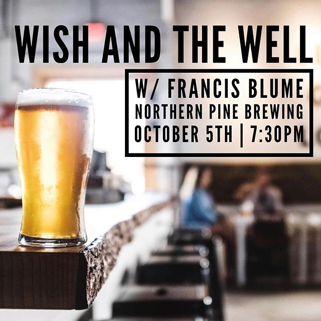 Save the date, y'all! We're excited to announce we'll be teaming up with @Francis.Blume for night of music and beers at @NorthernPineBrewing in Oceanside. Bring the family. Bring the friends. Drink the beers. Boogie yer bunz.