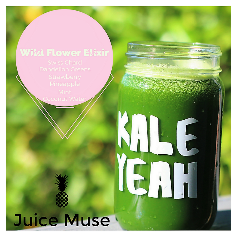 Wild Flower Elixir    This elixir is designed to hydrate and enhance the things you care about... like your hair, skin, and nails 🤷🏾♀️. While this is not a beauty vitamin replacement, it is a smart addition to your current vitamin intake in the form of a smoothie 😍.     4 swiss chard leaves    2 oz of dandelion greens    1 cup of frozen strawberries    1 cup of frozen pineapple    1 oz of mint    1 cup of yogurt    2 cups of coconut water    Process these ingredients with a blender.      Cheers,    🌼☀️🍾  Melody
