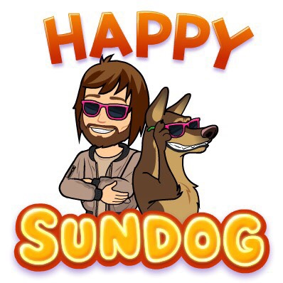 Short and sweet message from our friend, the Sundog