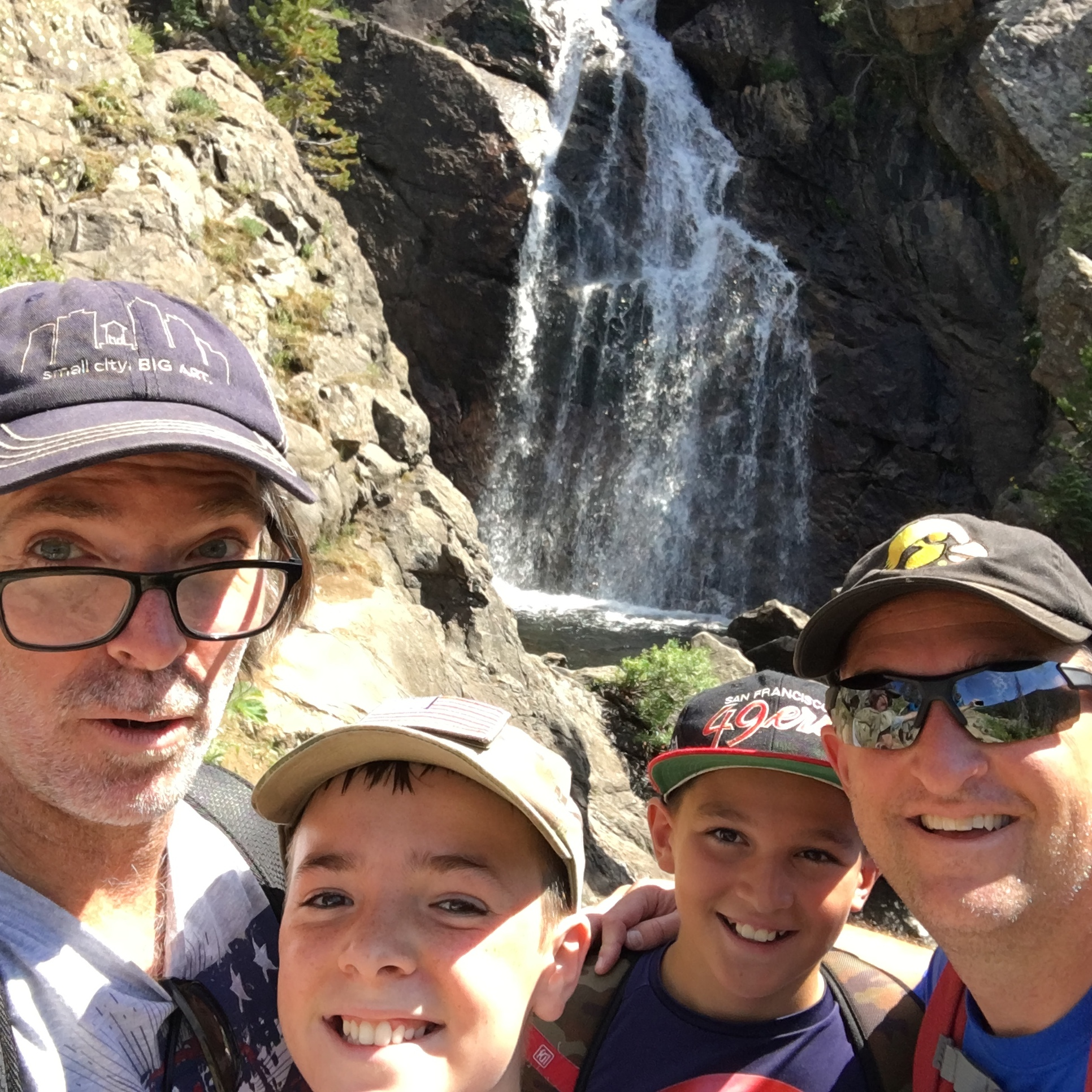 Loving Steamboat--the question is implied in the reminder I've set in my phone:  Make it memorable.  This waterfall isn't even halfway up the path to Long Lake and we would know.  We saw us hike it.
