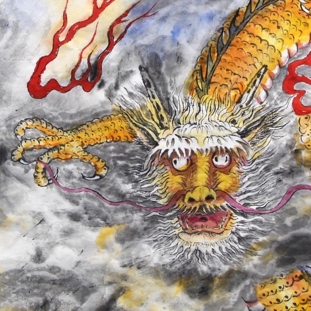 """""""Dragon Couple (Detail)"""" by Chi-Jen Liu"""