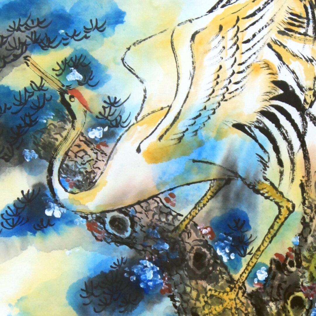 """""""Crane Couple"""" (Detail) by Chi-Jen Liu"""