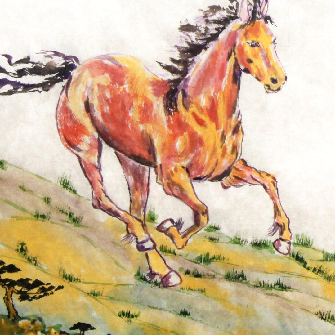"""Springtime Horses"" (Detail) by Chi-Jen Liu"