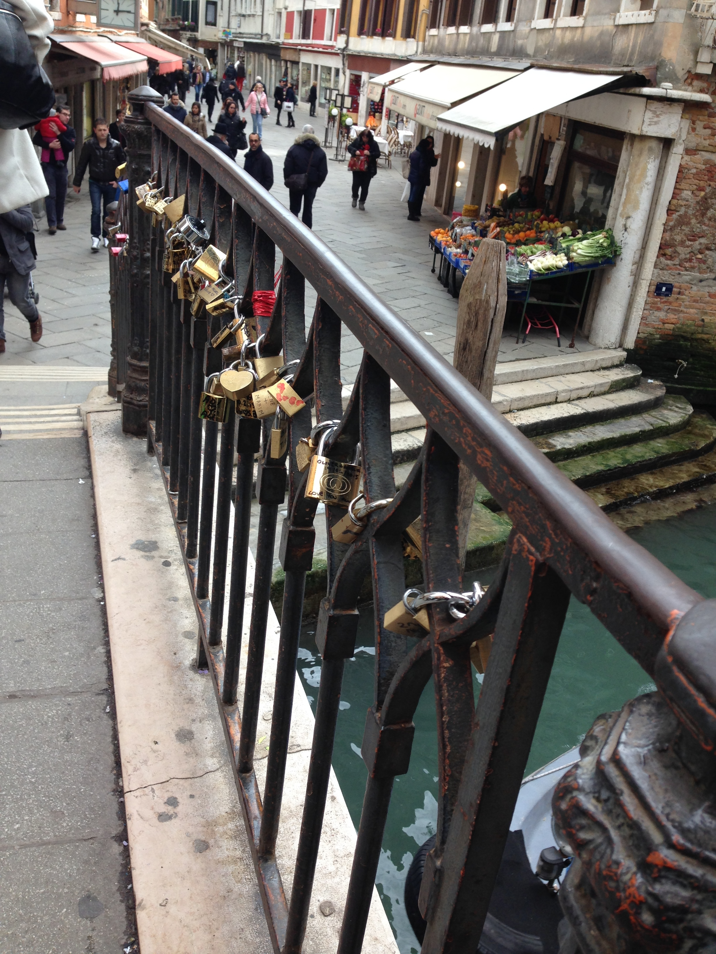 Venice's very own lock bridge!
