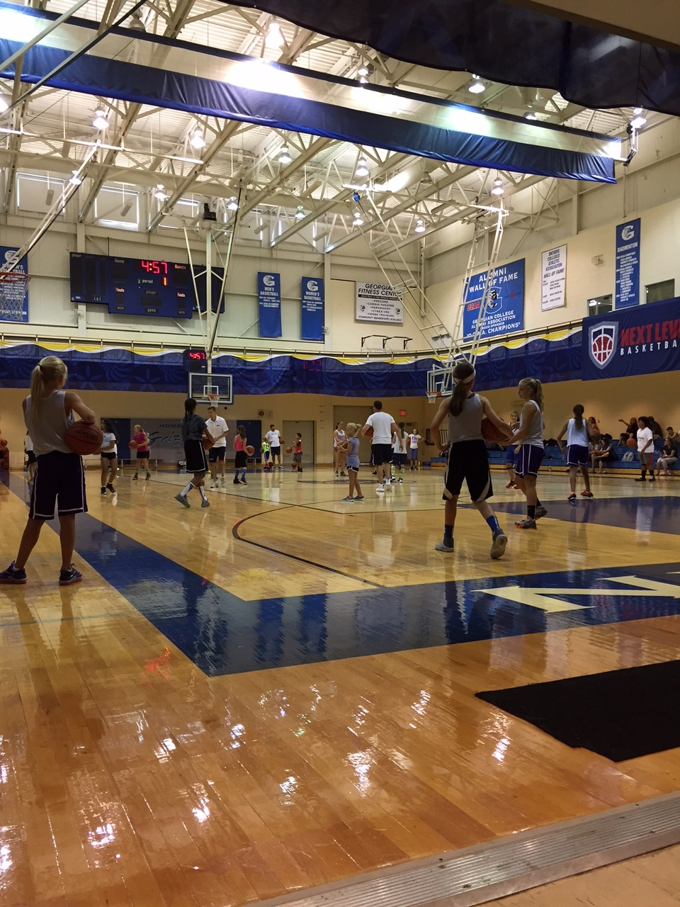 Girls clinic listening intently to instruction and correction!