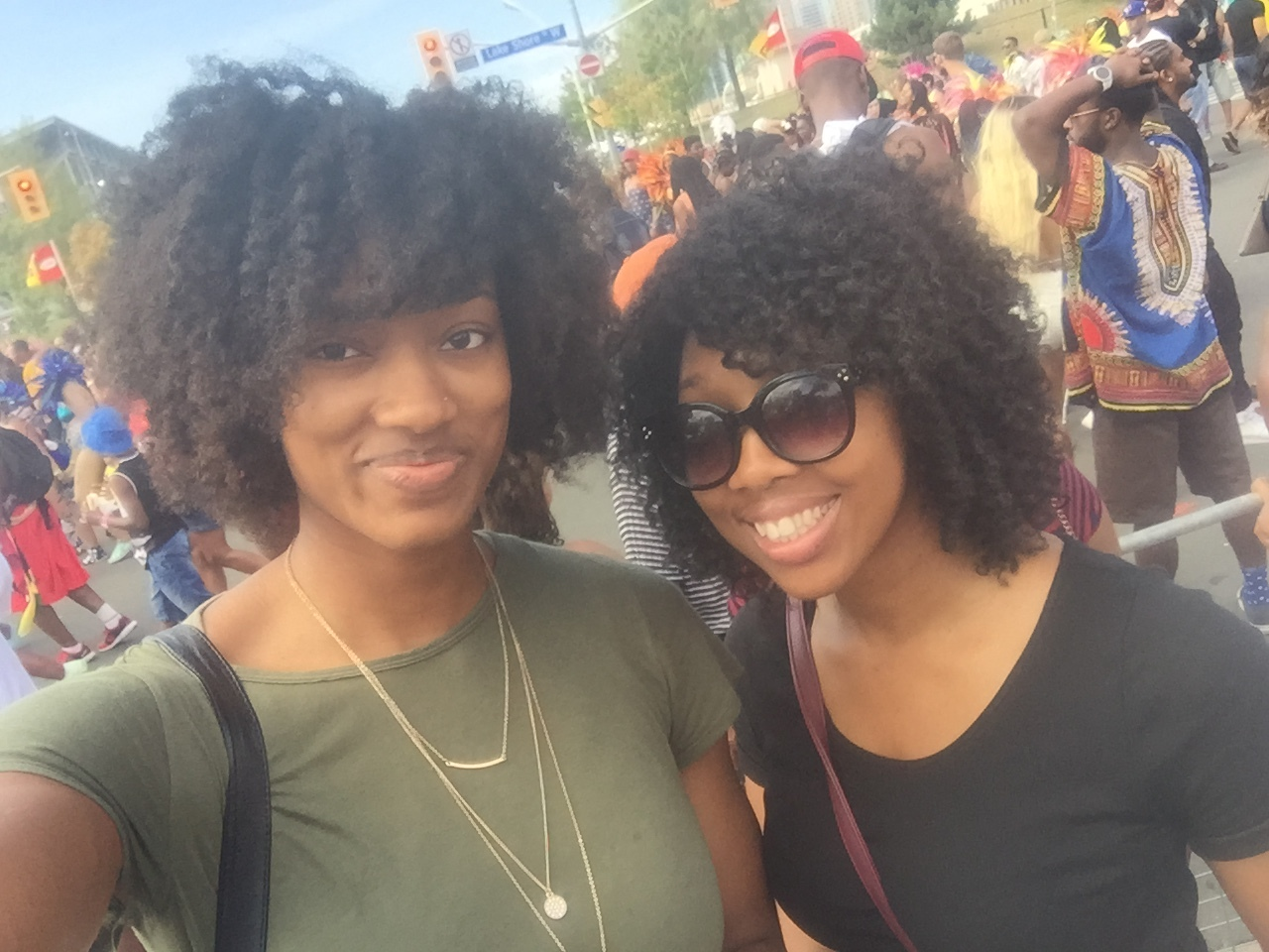 Selfie with my sister in a sea of people at the Caribana Parade! #NaturalHairOnFleek