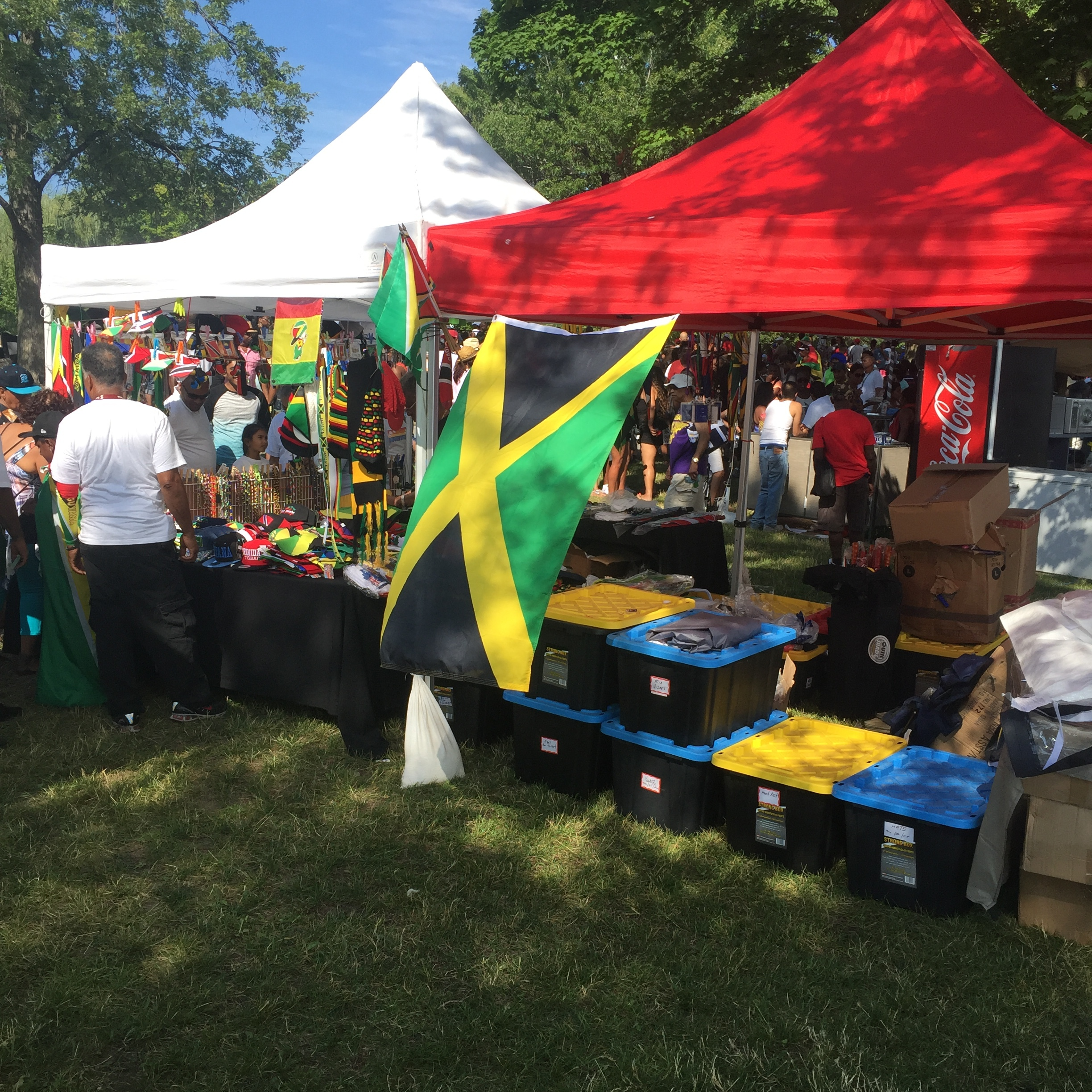 Variety of vendors with products for sale. #JamaicaRepresent