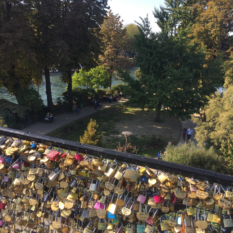 Paris lock bridge!