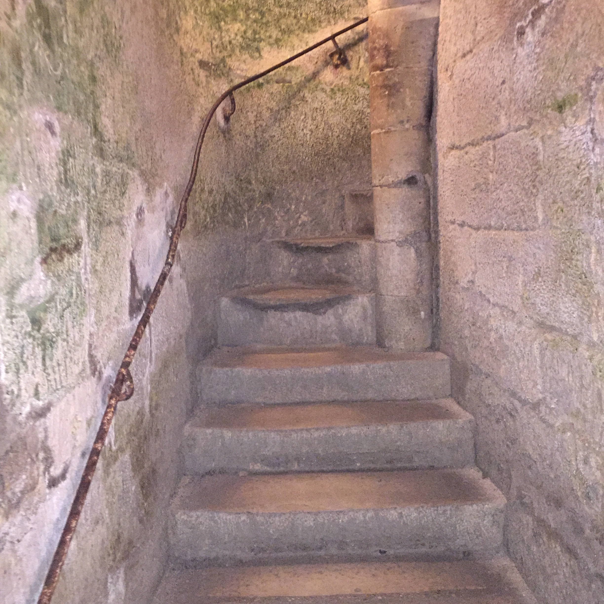 These stairs were narrow, spirally, and felt like they went on forever!