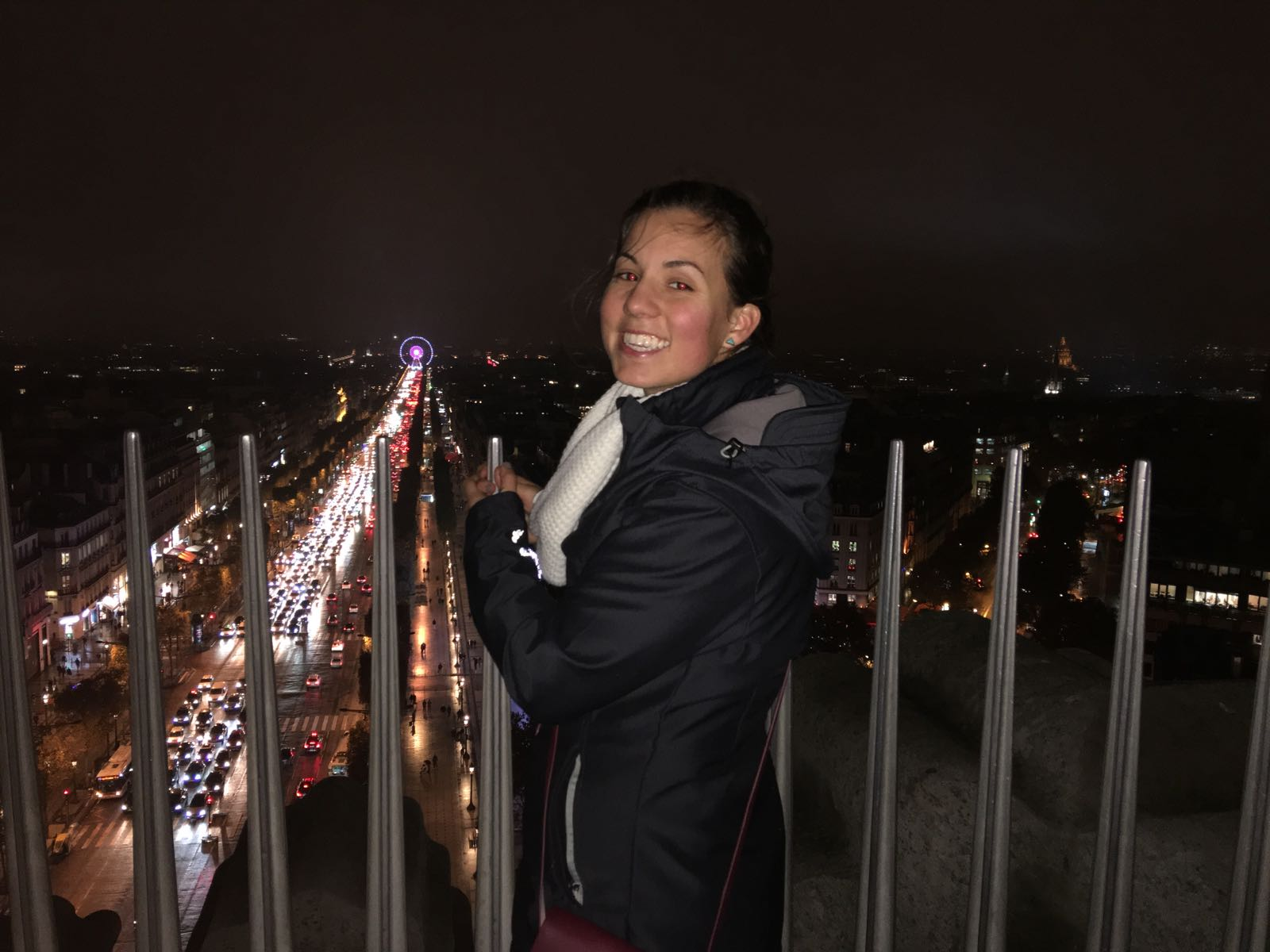 Kayla at the top of the Arc de Triomphe!