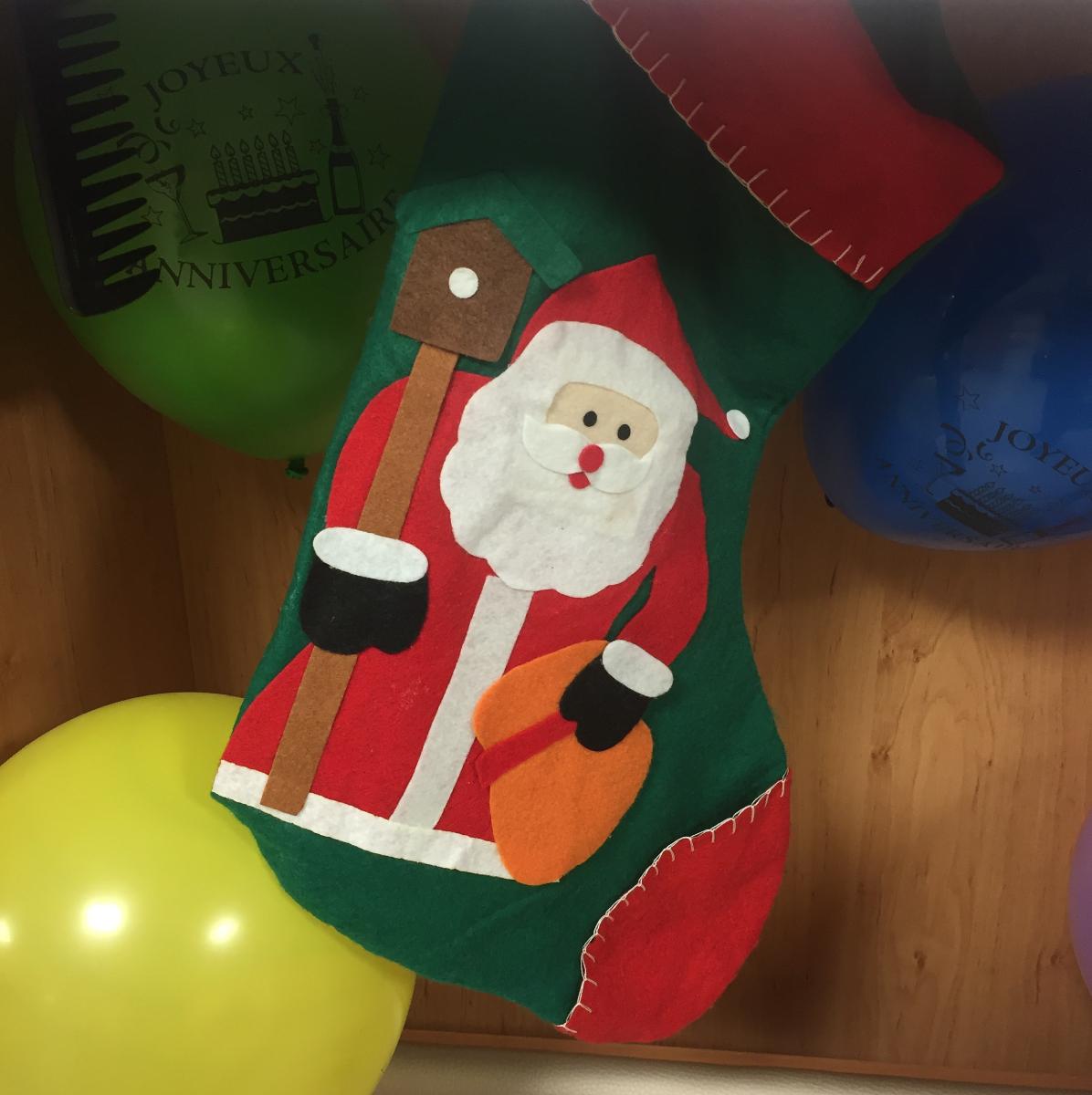Santa Clause stocking!