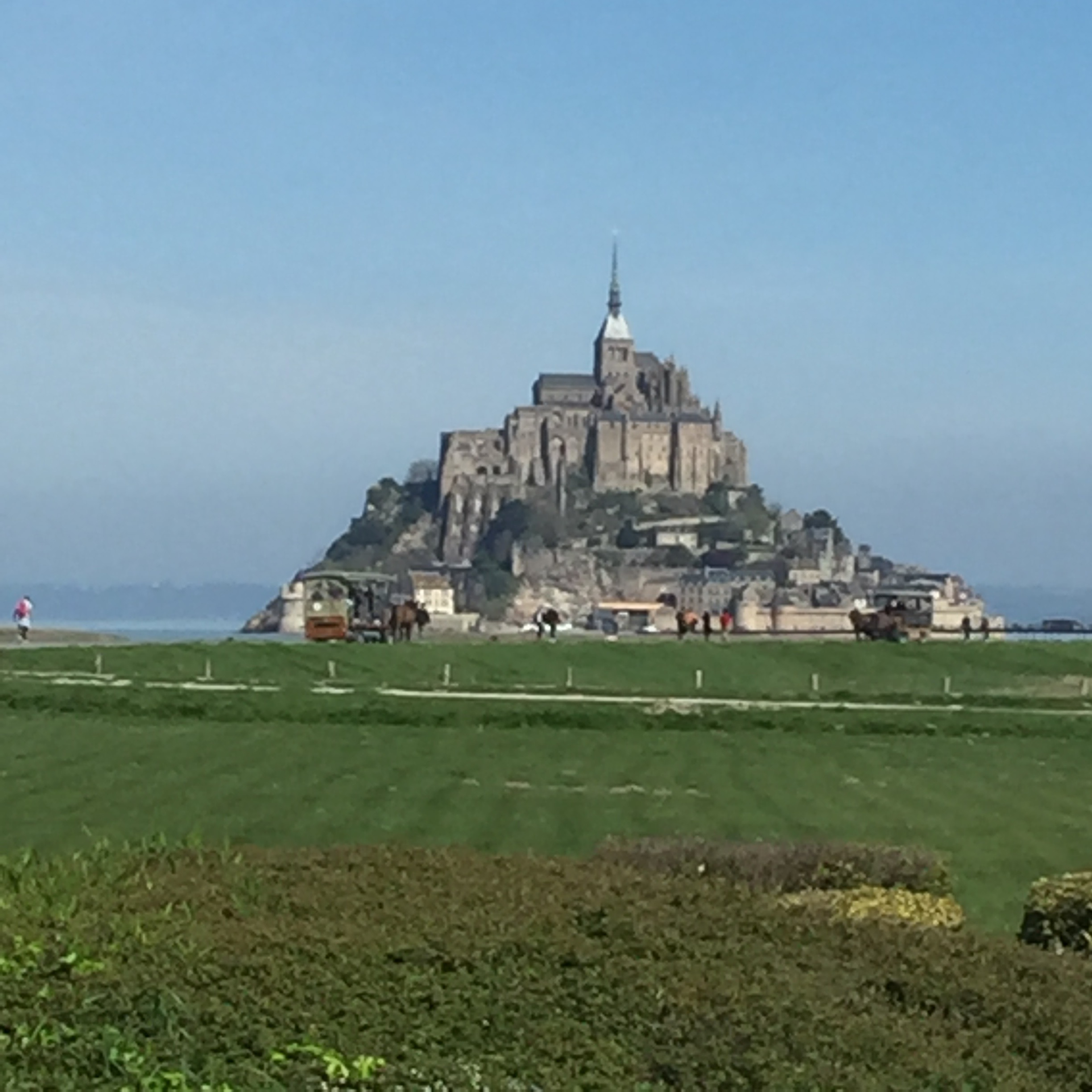 View of Mont Saint Michel from the restaurant, talk about great lunch views!