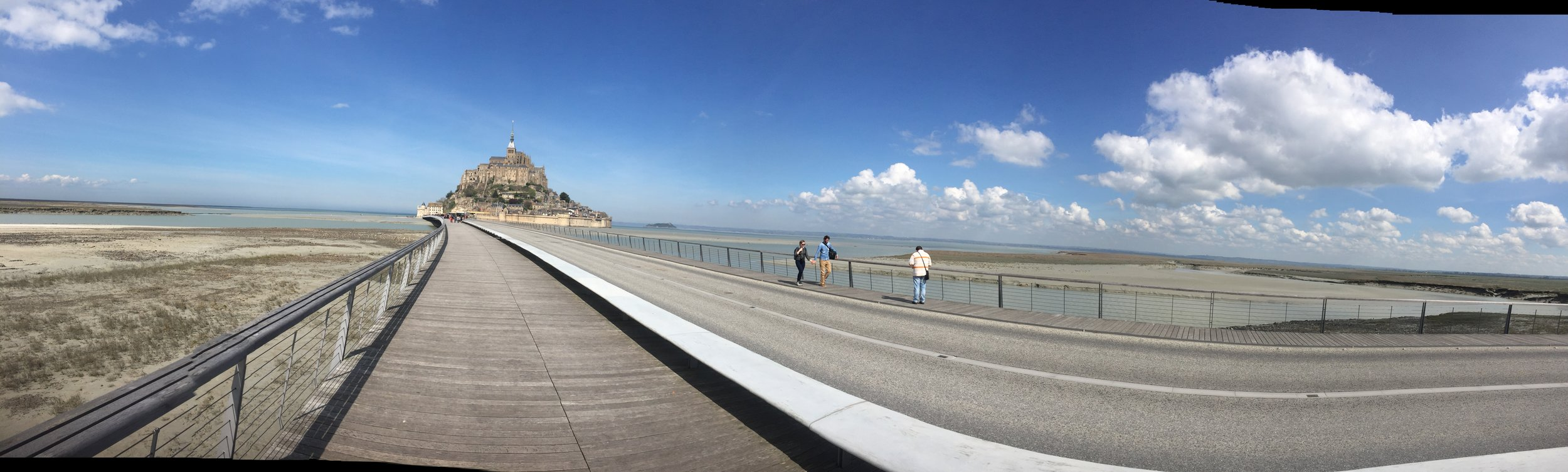 Making my way to Mont Saint Michel, great day for a nice long walk!