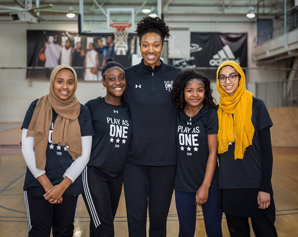Play As One interfaith basketball event for high school students.