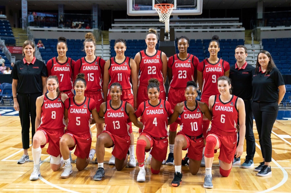 Team photo before our exhibition game against the USA on September 8, 2018 at Webster Bank Arena.