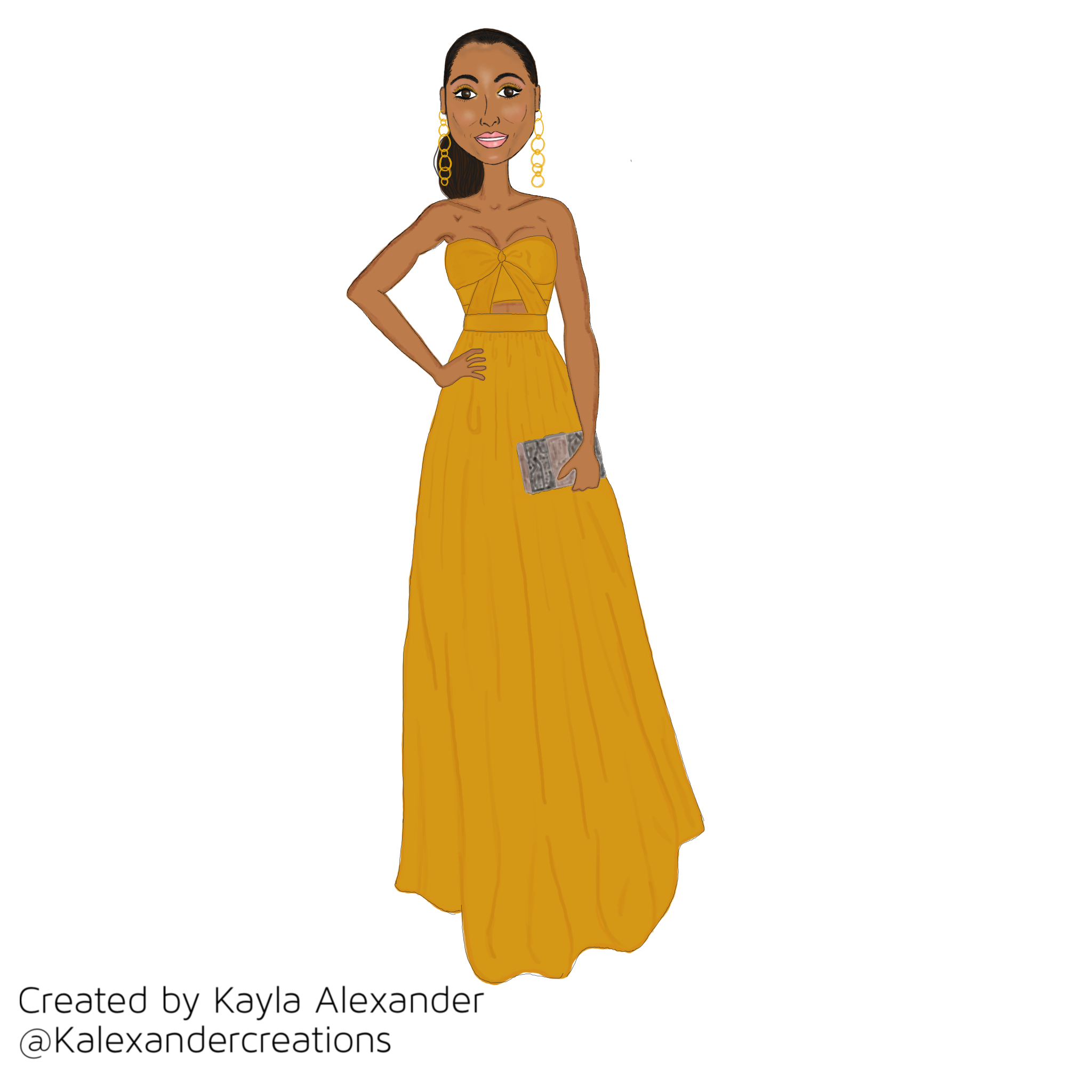 Golden girl Skylar Diggins-Smith in a Jay Godfrey dress.