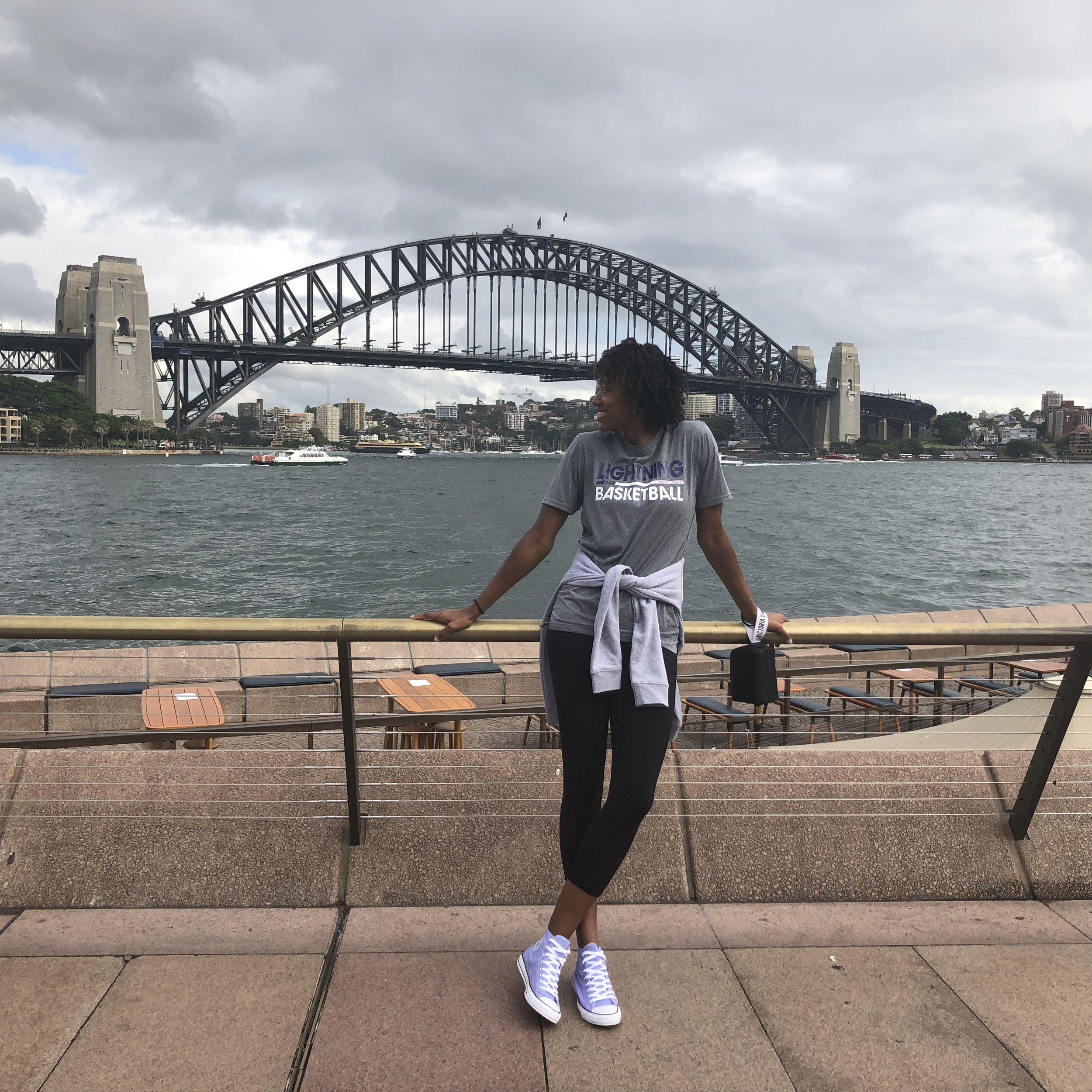 The Sydney Harbor Bridge.