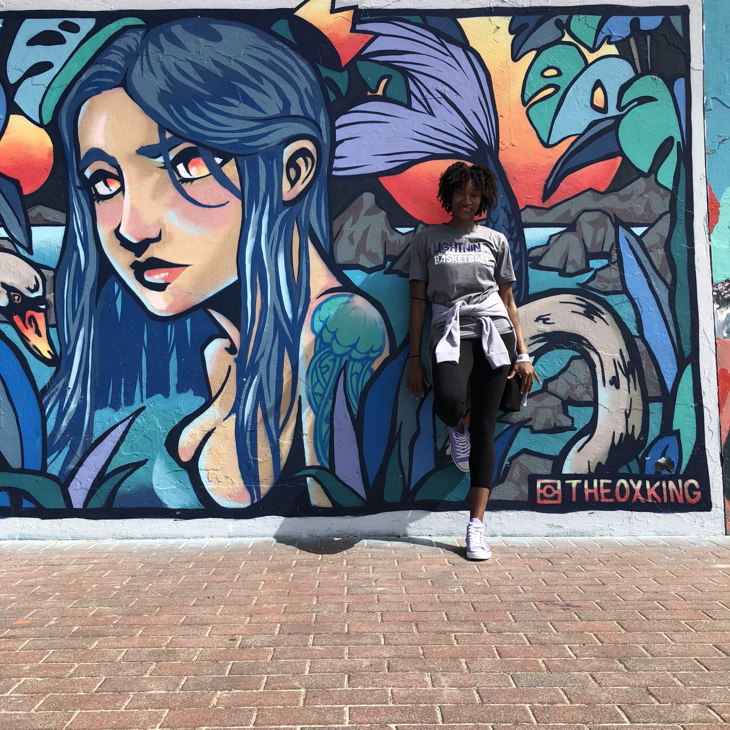 Some art along Bondi Beach.