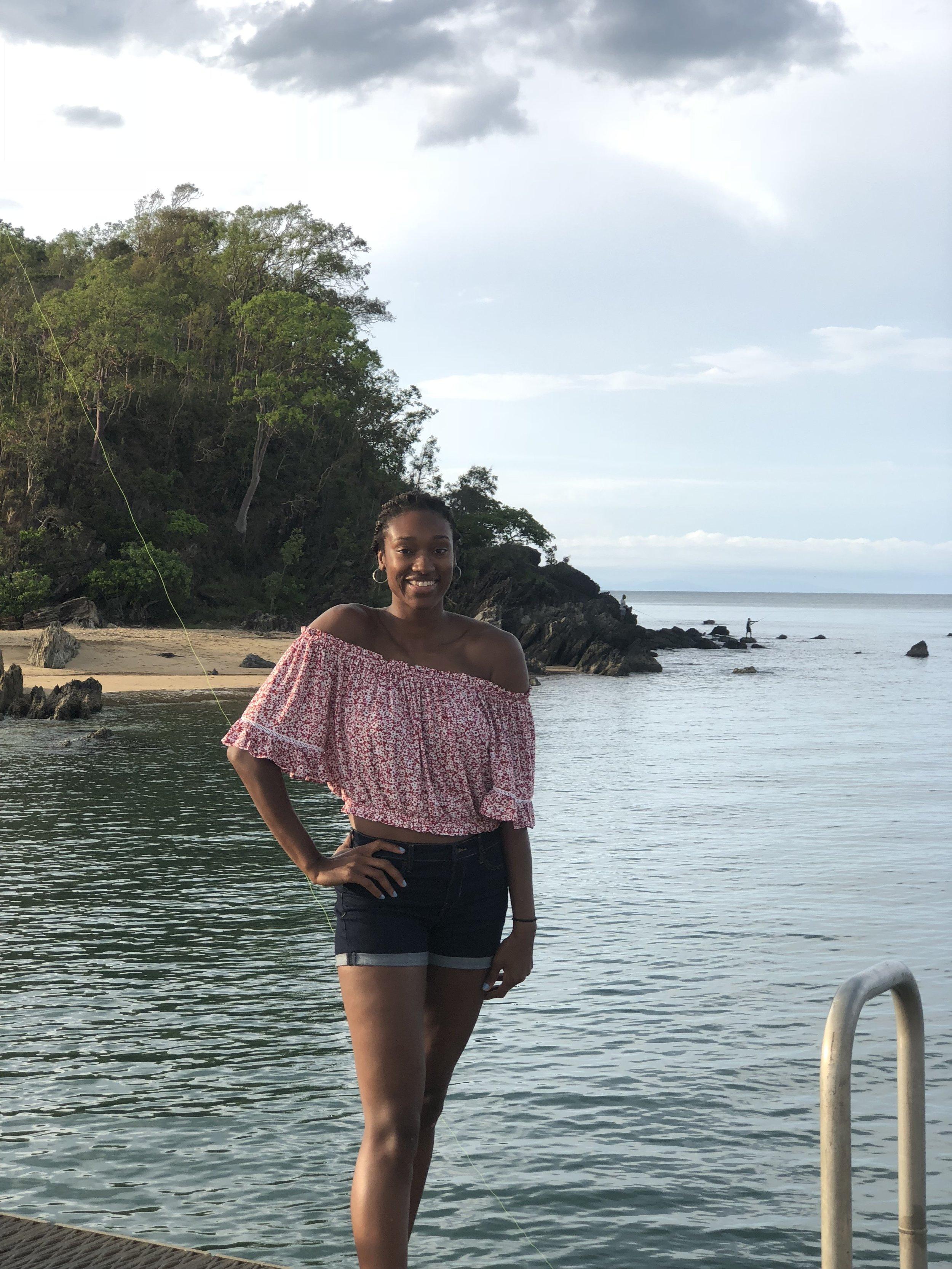 Posing at Palm Cove Beach!