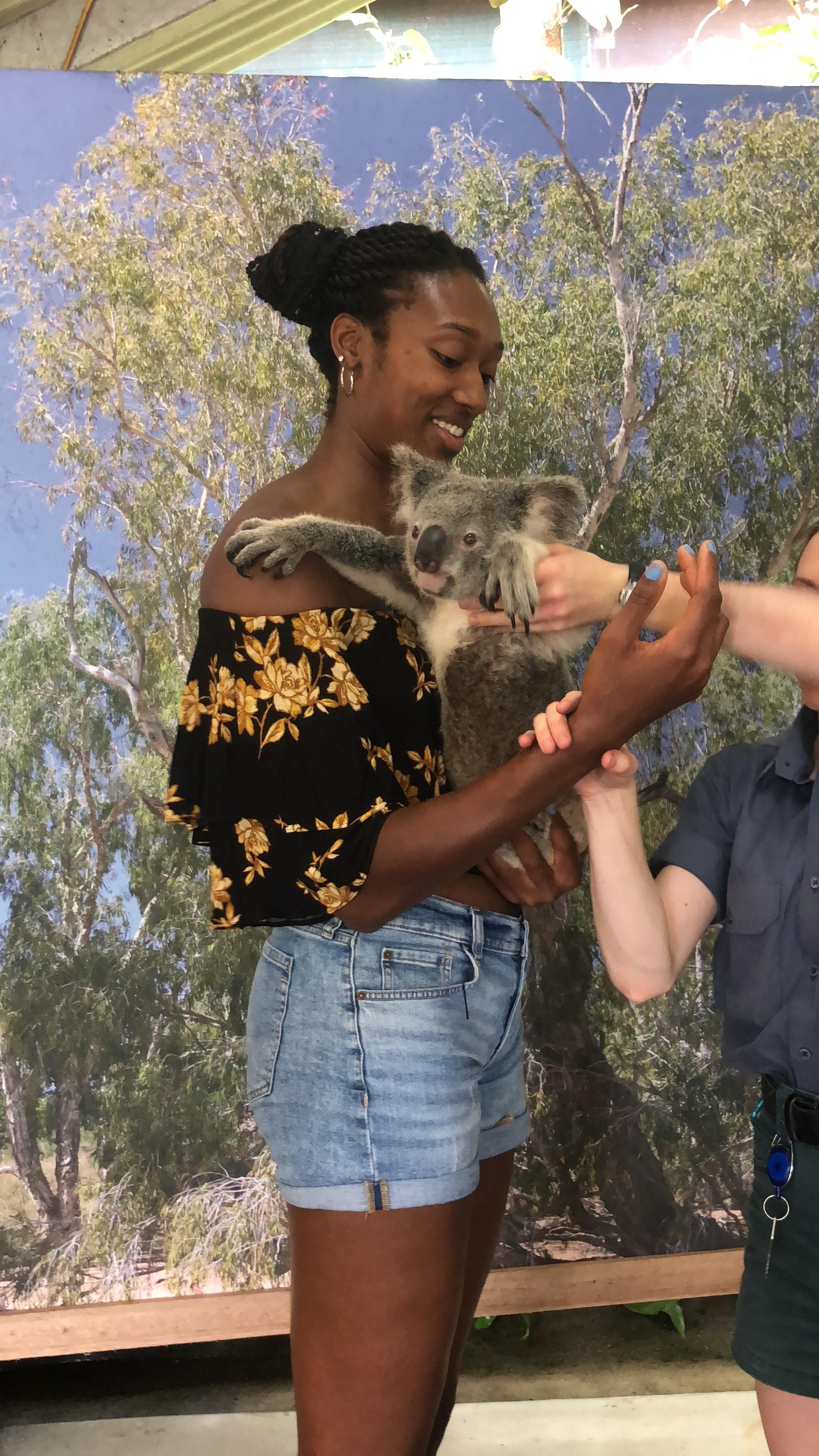 Ahhhh, I am about to hold a Koala Bear!!