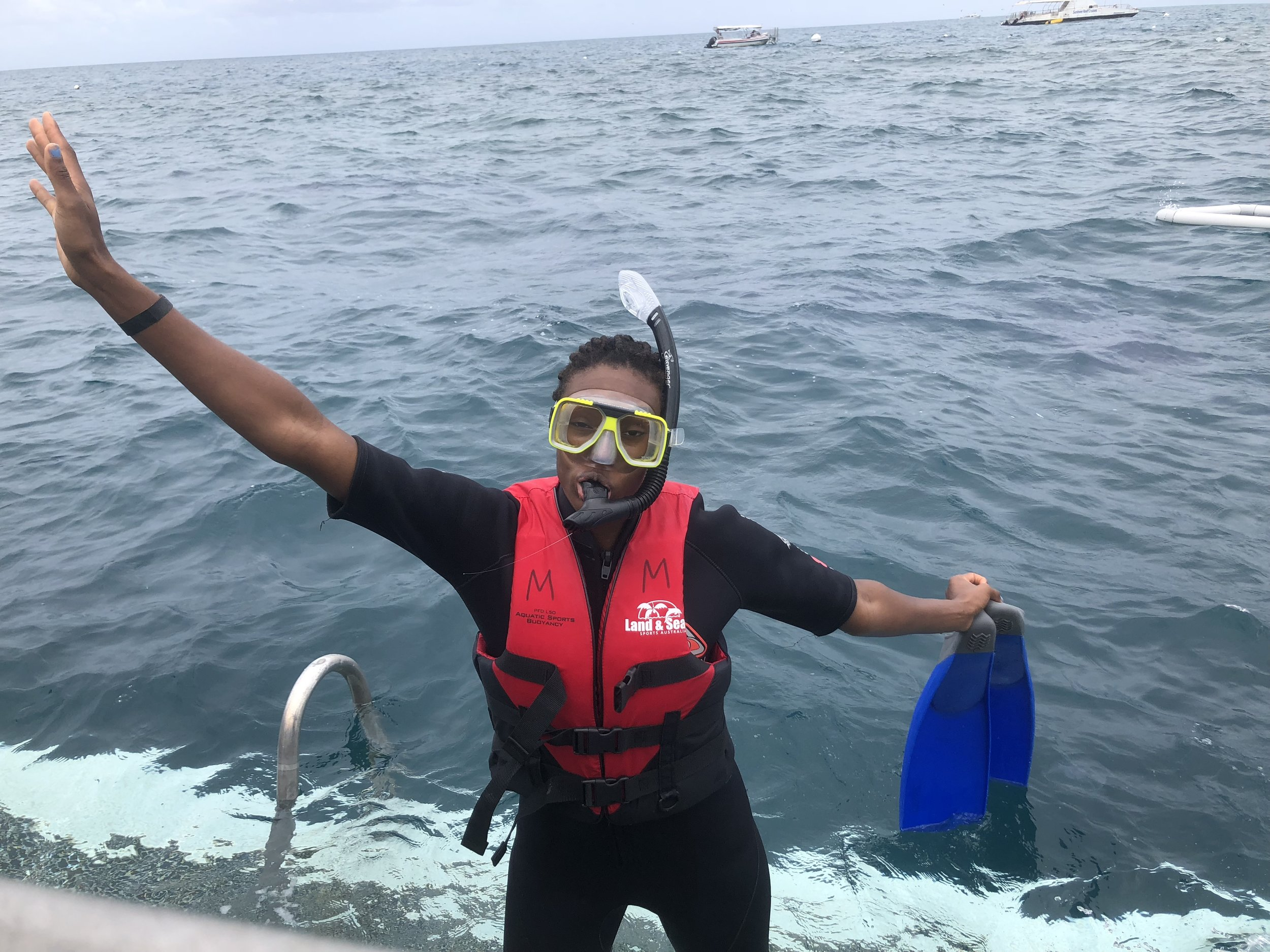 First time snorkeling!