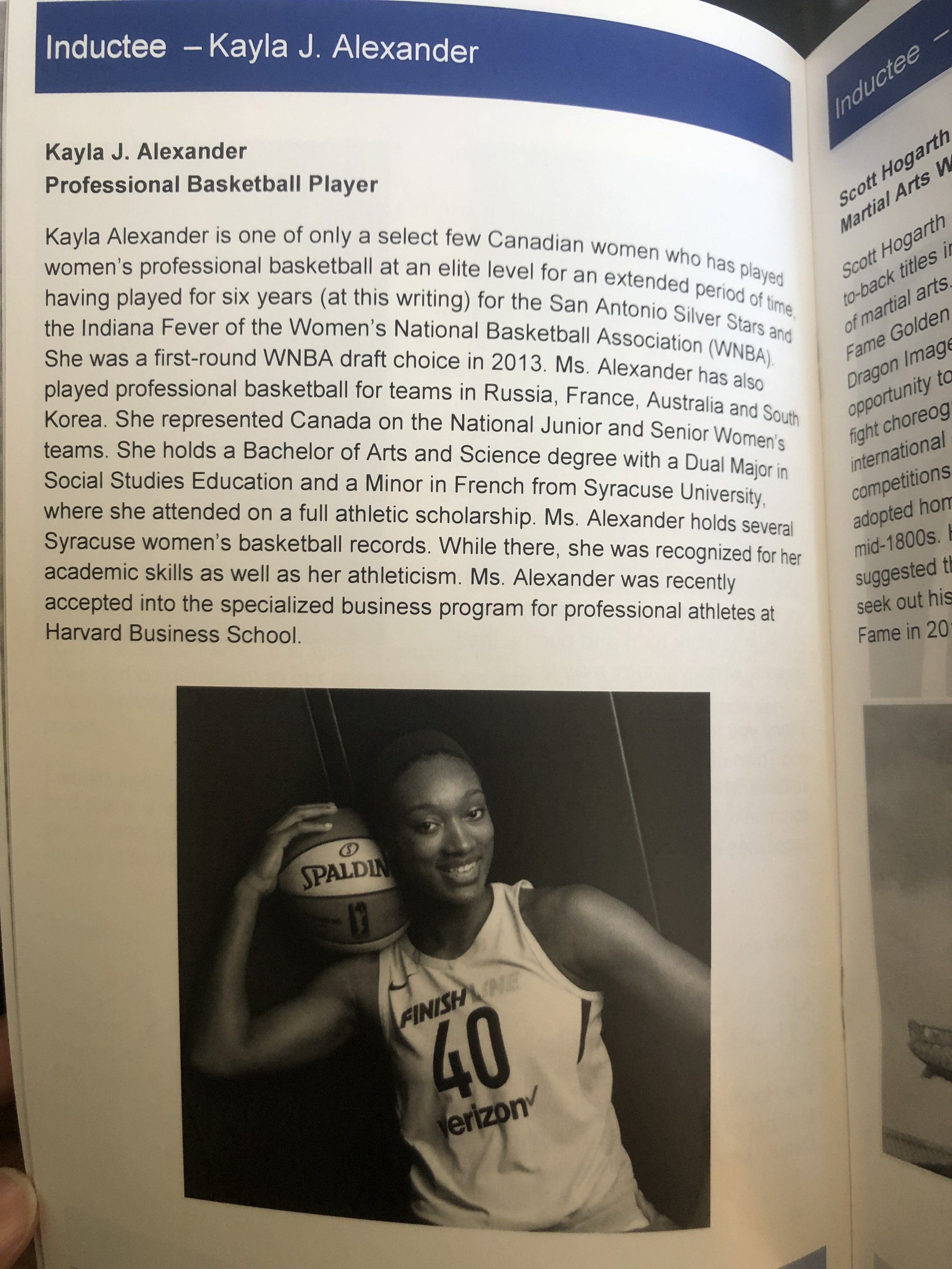 My page in the Milton Walk of Fame program.