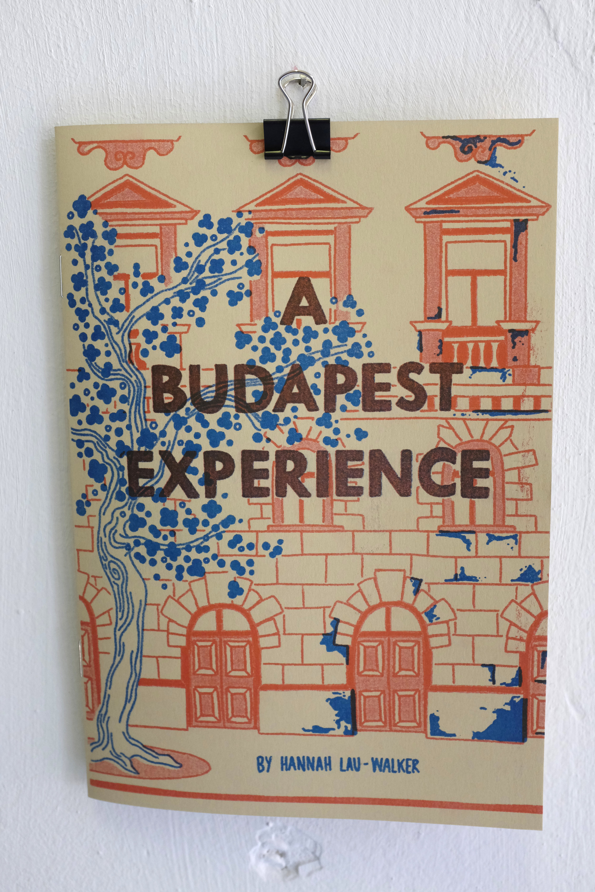 Zine: A Budapest Experience, 2018. Risograph. Exhibited at Déri Miksa studio.