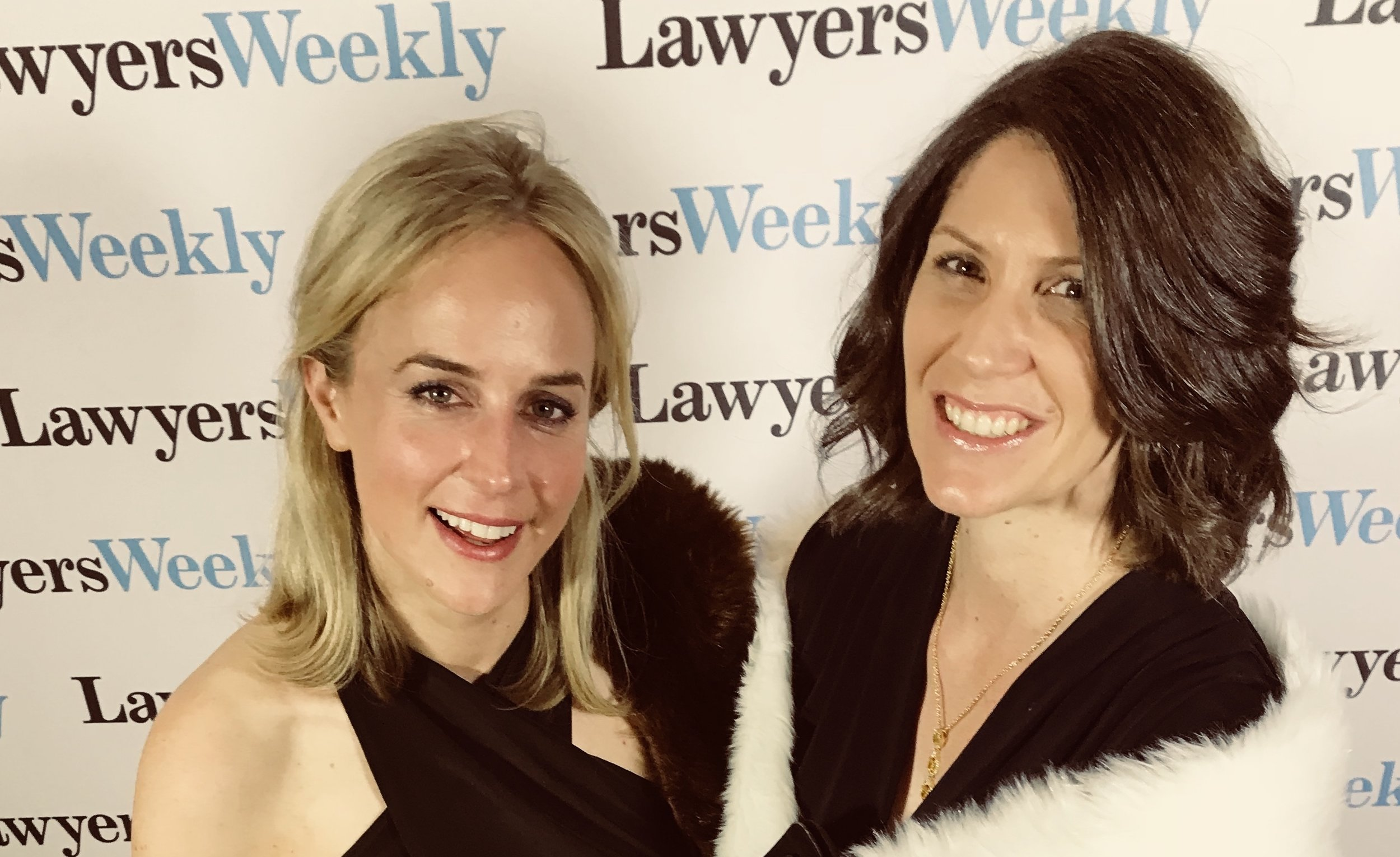 Arma Legal directors Hayley Haas (left) and Zoe Ramsay (right). Hayley was a finalist in this year's Lawyers Weekly Awards.