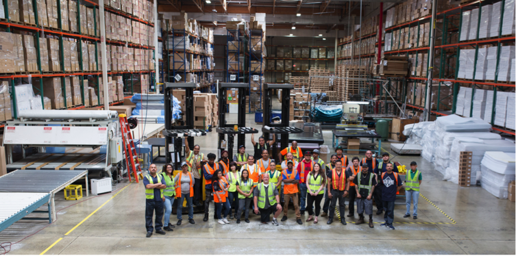 Boyd Sleep Fontana CA Warehouse Team