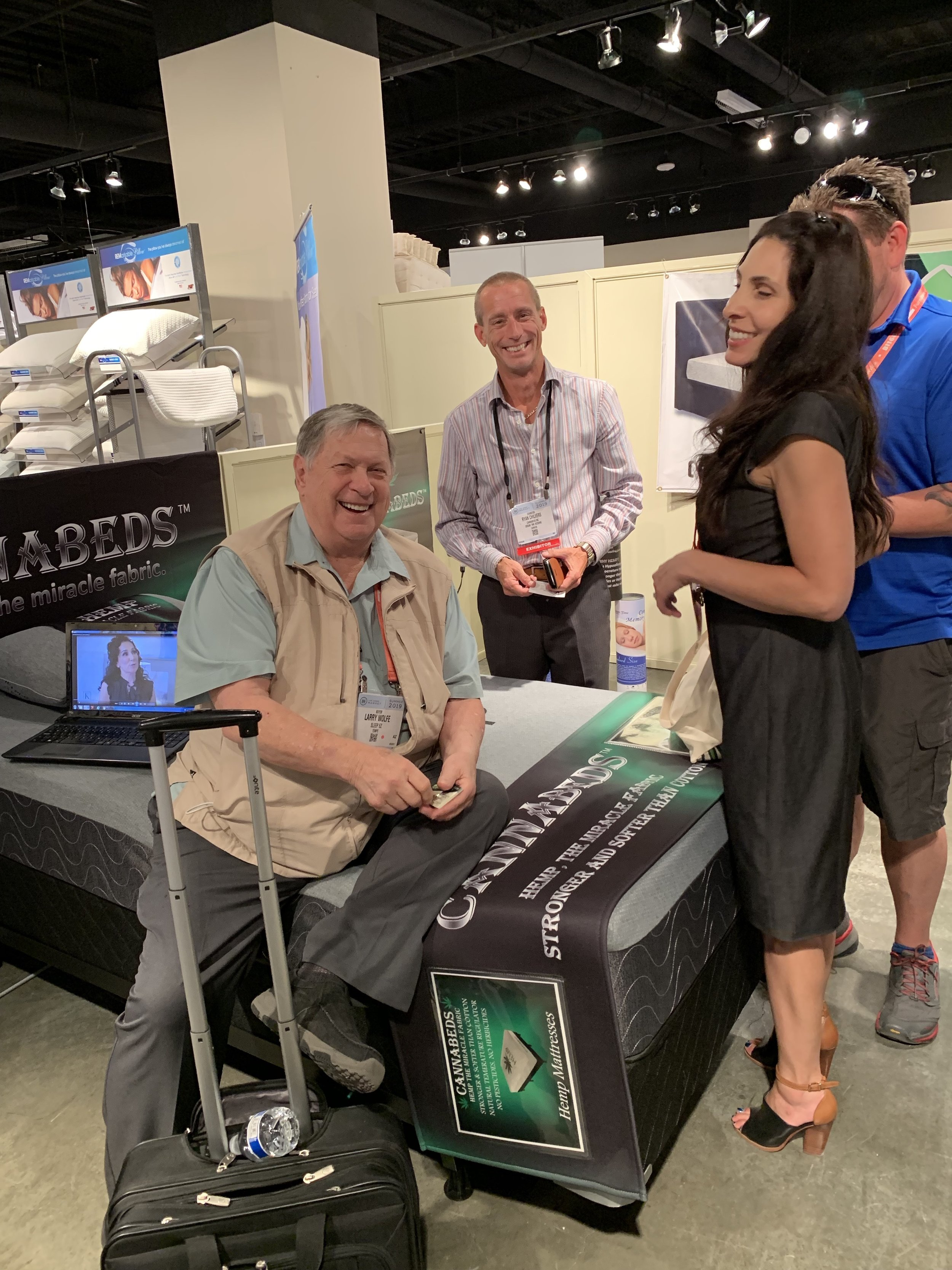 Ryan Chilvers - Cannabeds is all smiles with Larry Wolfe and his team