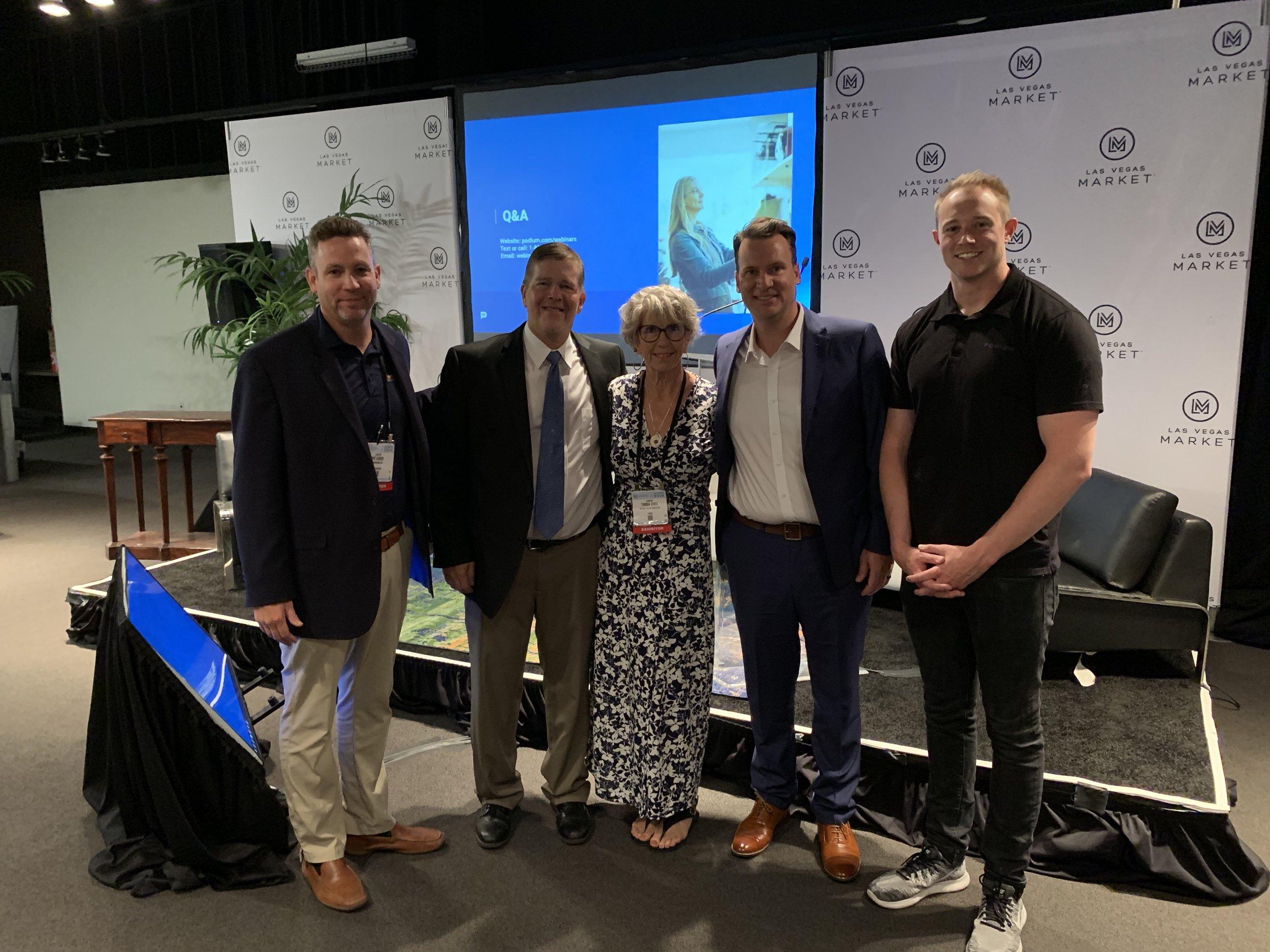 Pat Kunish - SmartWerks, Brian Davis - The Bedroom Store and SSA Board Member, Tambra Jones - SSA Executive Director, Shawn Doane - Speaker/SmartWerks and Ty Bate - Speaker/Podium