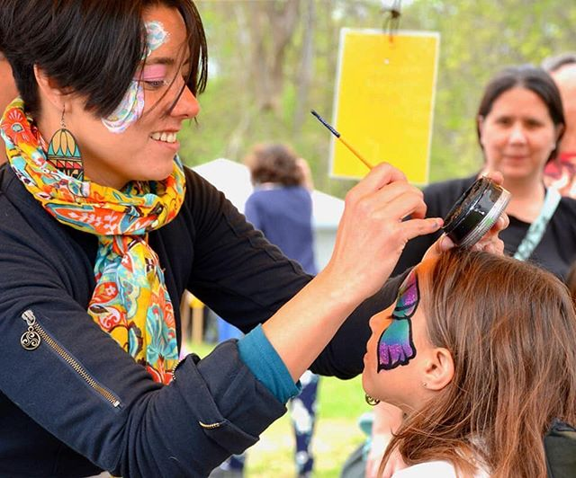 Action shot ... ... ... #facepainting #paintedpixie #actionshot #summer #ottawalife #happythursday