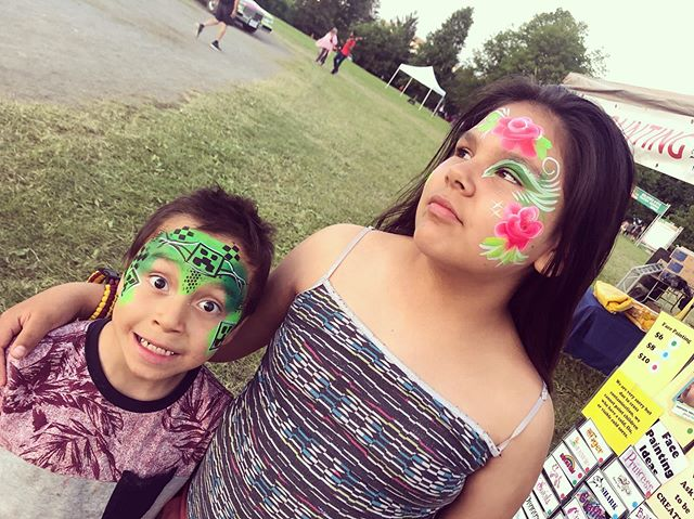 Last day @ottawasolstice powwow today! Family activities start at 10am including bouncy castles, paddle boats, archery and those massive inflatable balls that you roll inside. Grand entry for the dance is at noon. We are here face painting in the kids zone close to the entrance. Here till 6pm. Happy solstice weekend everyone!! You are all amazing, colourful, sparkly abs magical!!