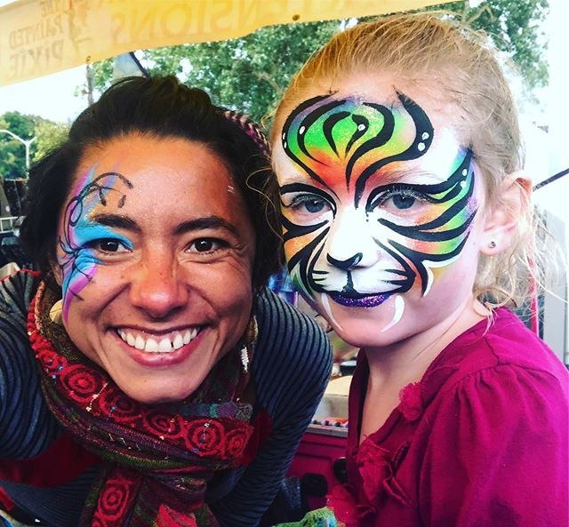 A fair highlight from this past weekend @therenfrewfair #fair #countyfair #ottawavalley #facepainting #paintedpixie #tiger #familyfun #firstweekofschool