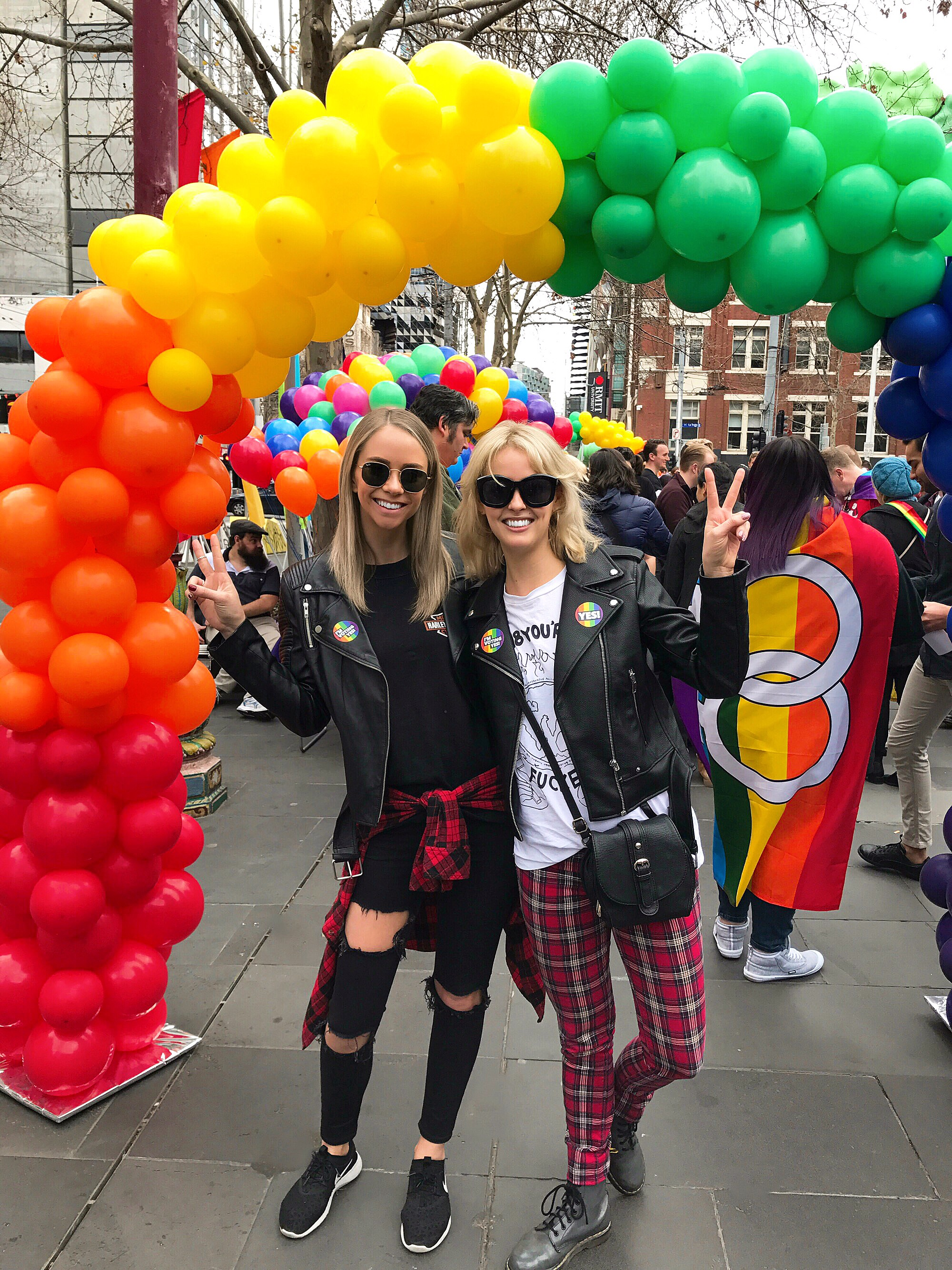 Marriage Equality rally in Melbourne with Maggie.
