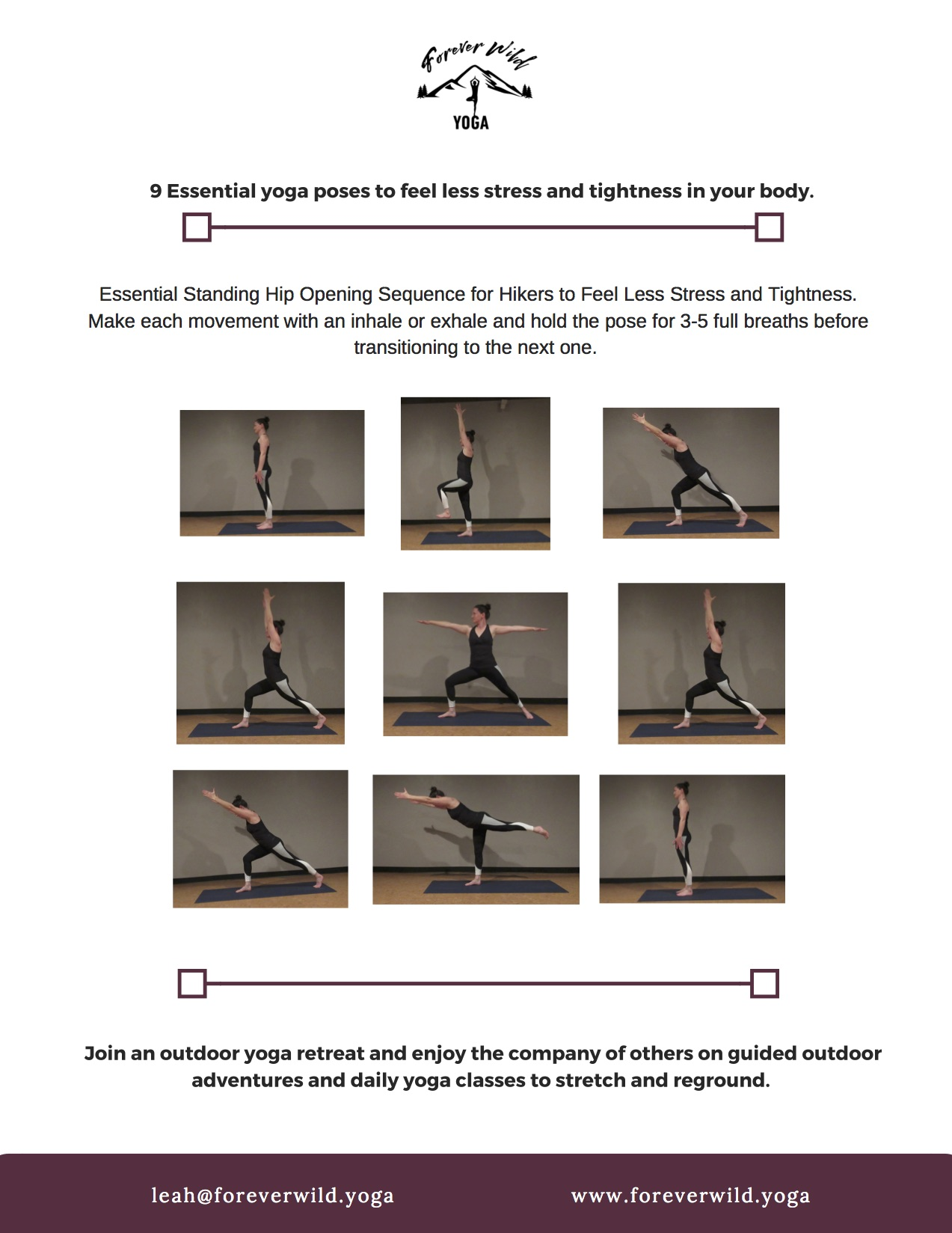 Yoga Sequences Forever Wild Yoga