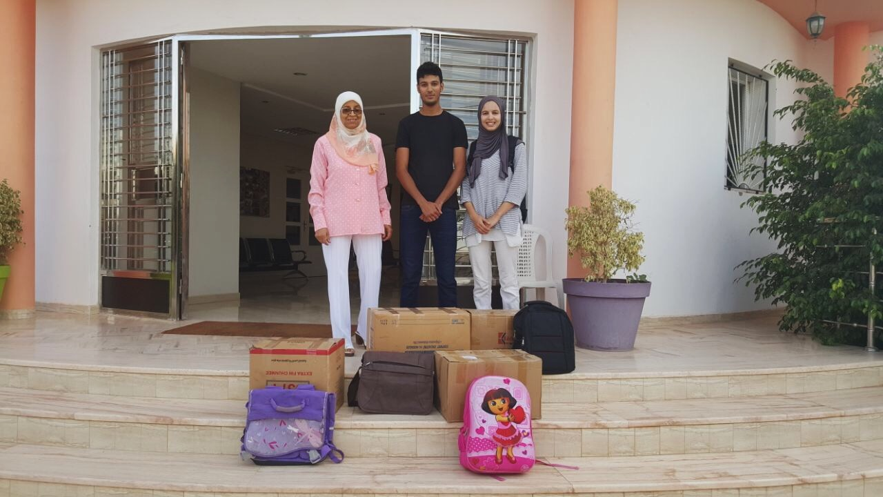 TOSS Morocco Team at The Ajial Alhouda School, the first donor school.