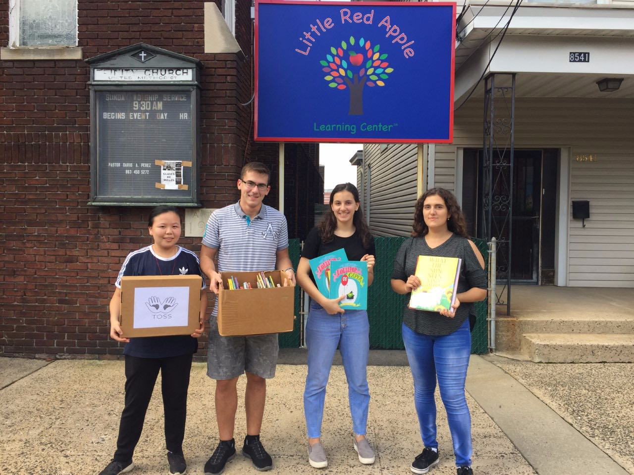 NY/NJ branch's latest delivery to Little Red Apple Learning Center in North Bergen, New Jersey. They donated around 50 books to student between the ages of 3-5.