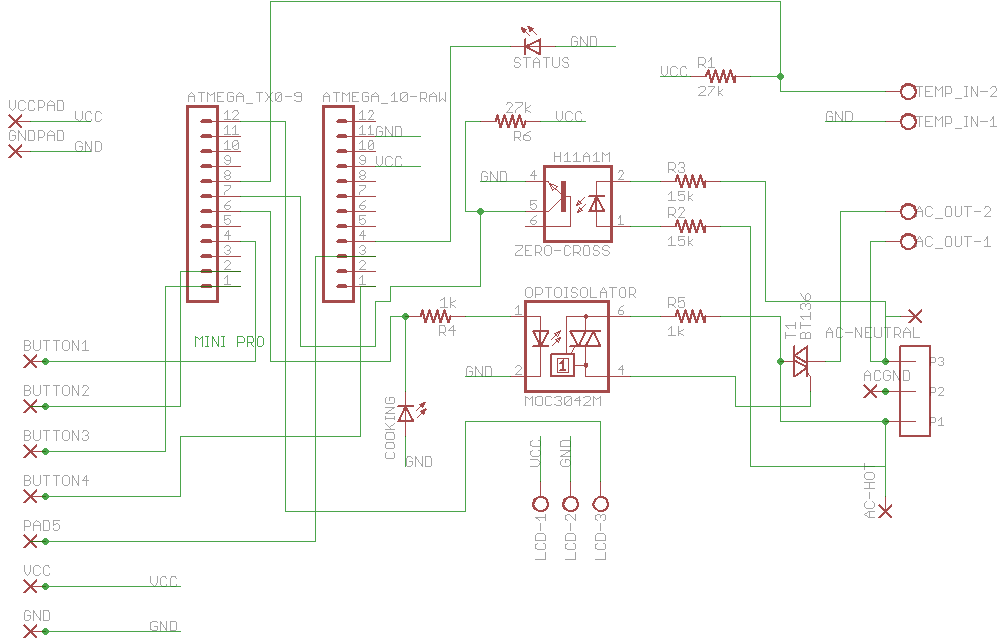 The schematics in Eagle, preparatory to building out the system