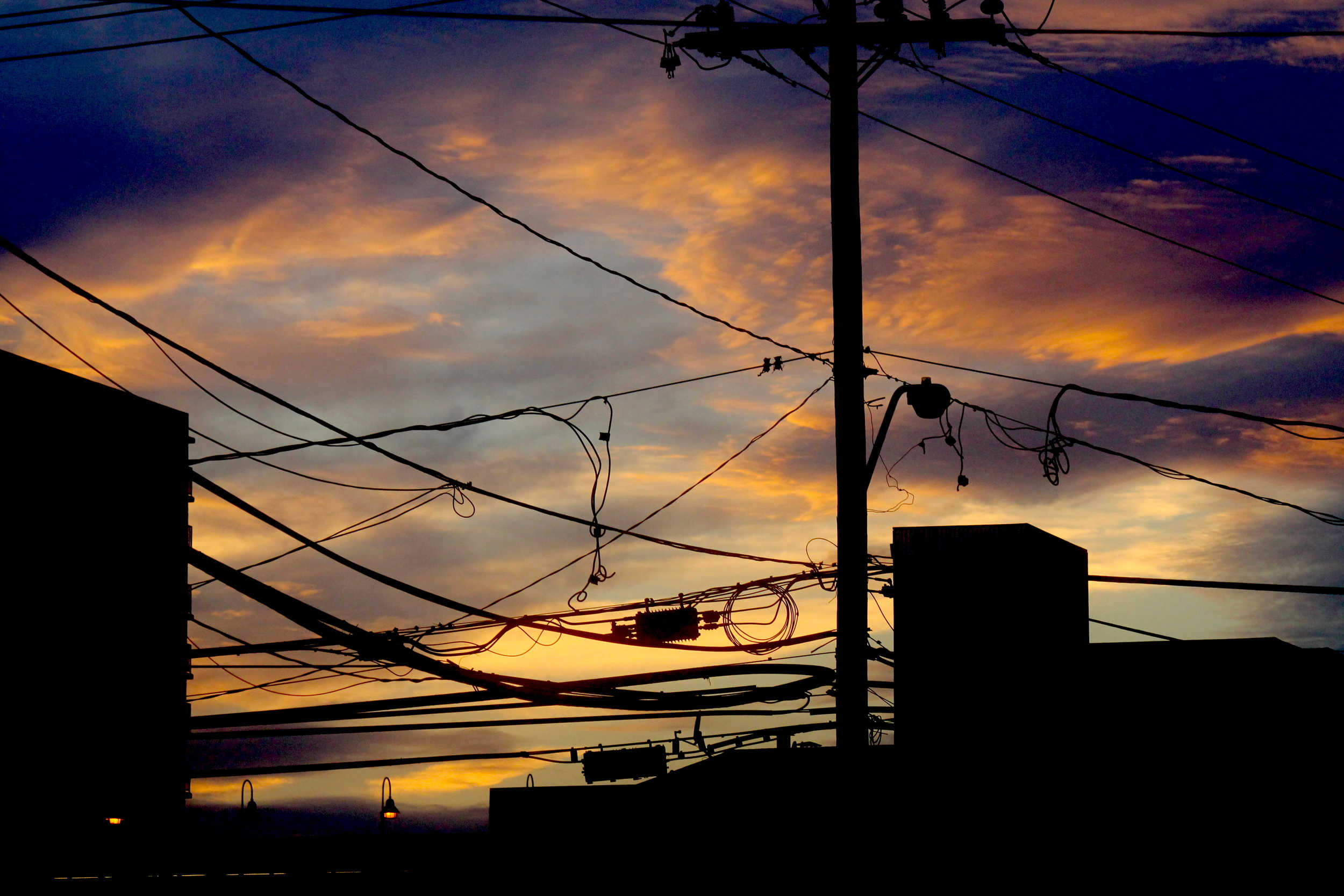 Sunset Over Rockaway Wires