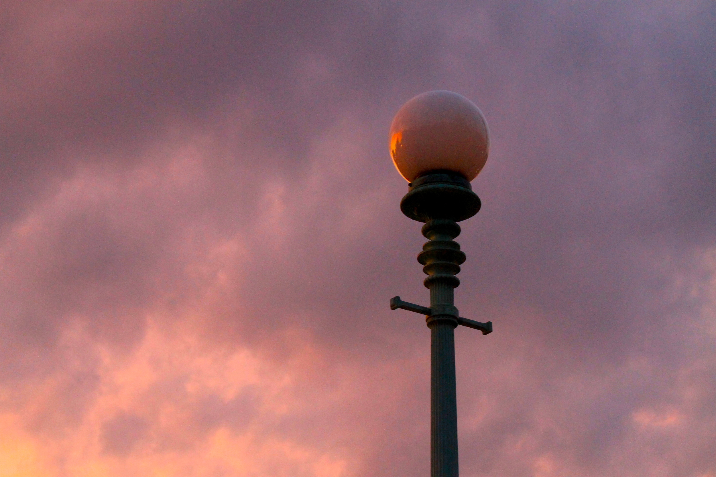 Lamppost In The Sunset