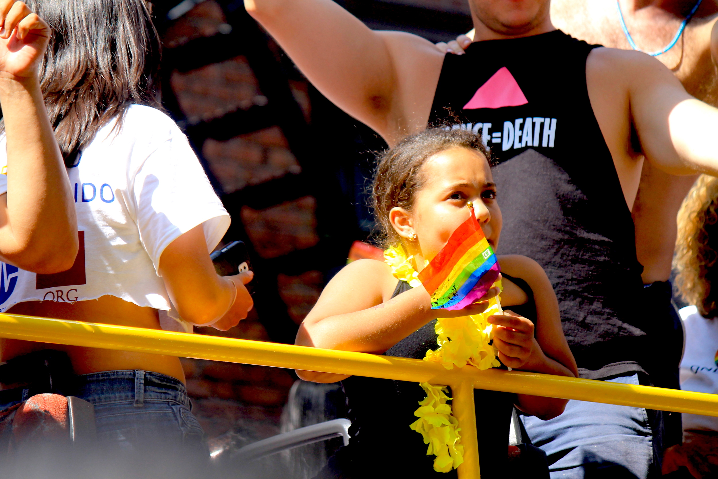 A Young Girl At The Parade