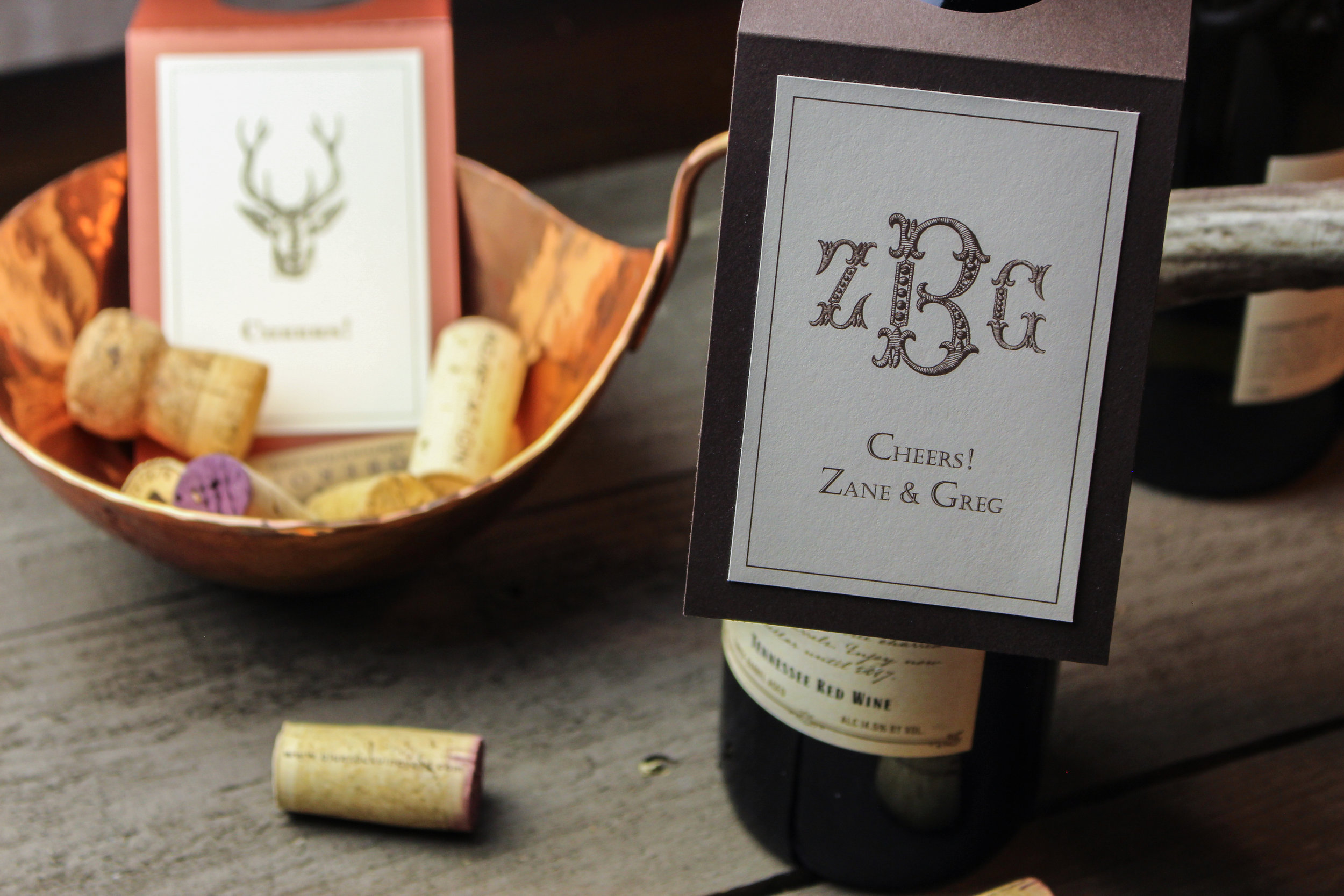 18 Beaded Monogram Wine Hanger 7 Chocolate