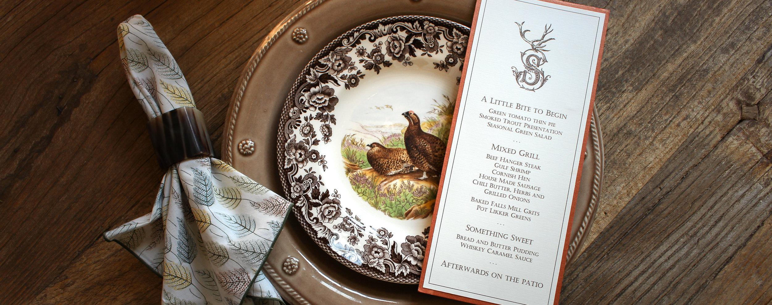 INVITATION + MENU CARDS