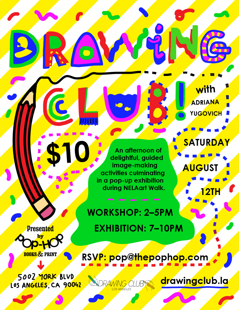 Drawing Club Flyer by Robbie Pitts