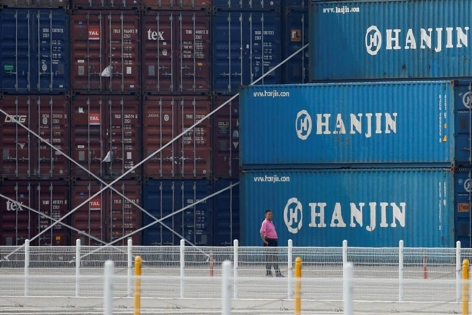 Hanjin docks on hold.