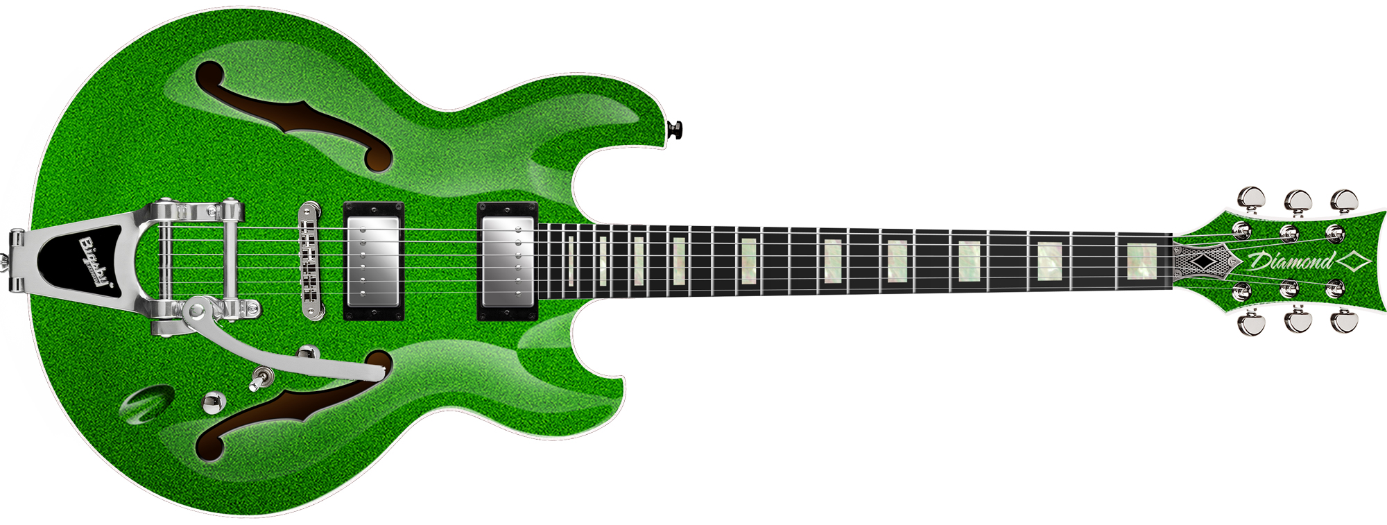 Imperial Semi Hollow w/Bigsby - Lime Green