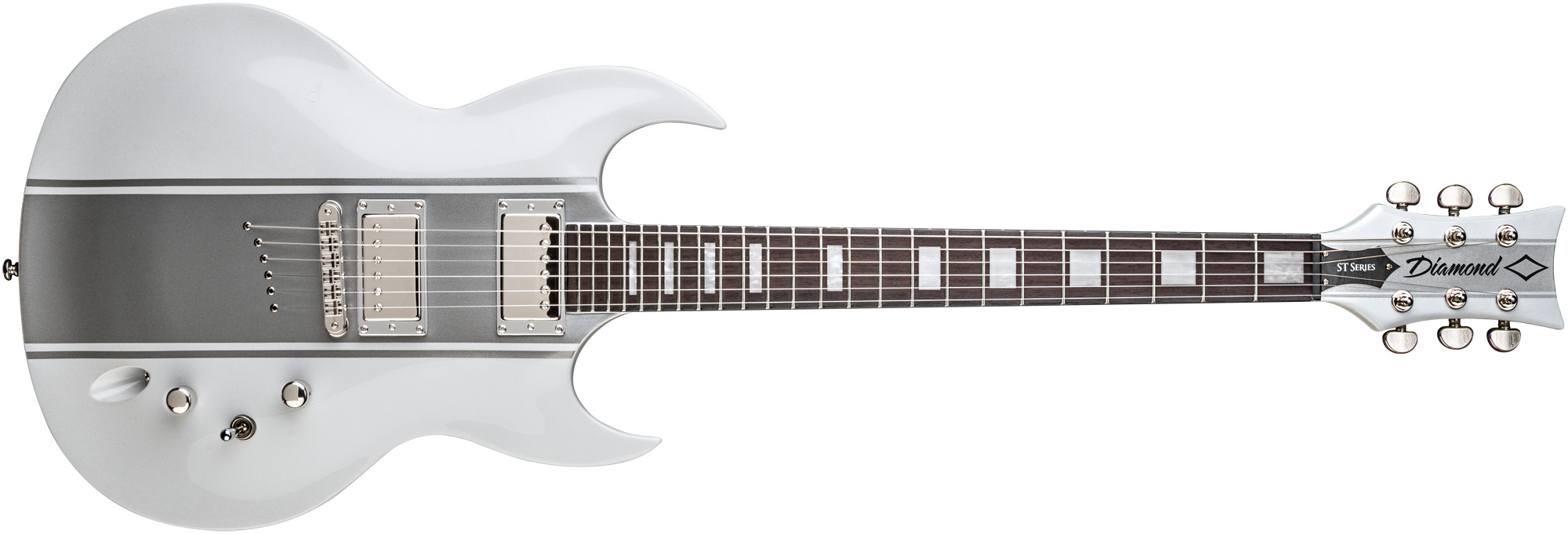Renegade ST Plus - White w/ Silver Stripe