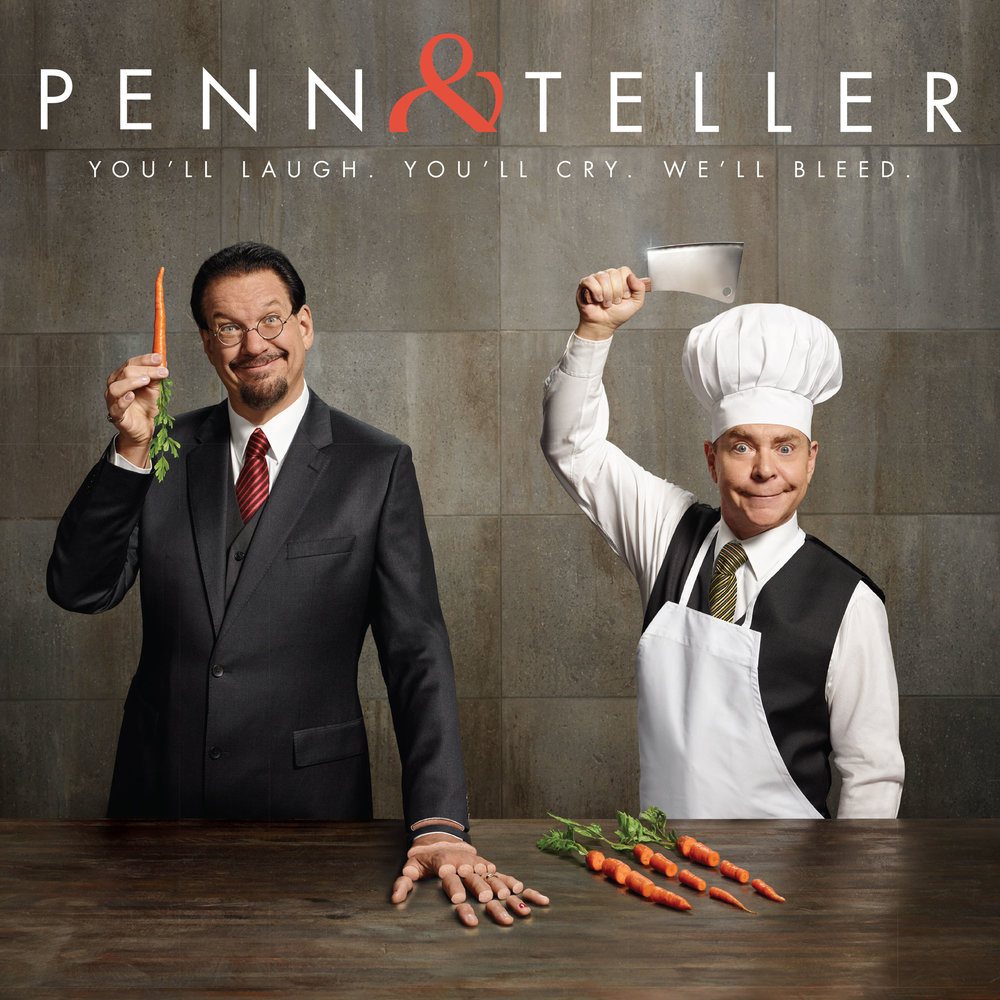 Penn & Teller  campaign concept, set and prop fabrication, photography, and print collateral